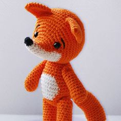 Lisa the Fox amigurumi crochet pattern by Pepika