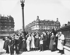 People Watching Solar Eclipse 1911 Paris by by EclecticForest