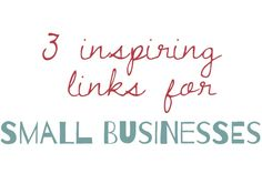 3 inspiring links for your #crafts business