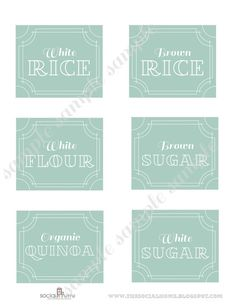 48 Printable Pantry Labels Vintage Blue by thepapersociety on Etsy