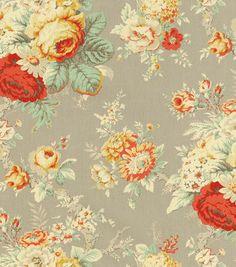 Waverly Fabric Upholstery Drapery or Craft Tick Tack Waverly Screen Pr.