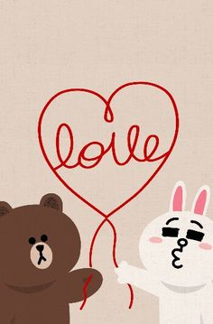Brown bear & cony rabbit off line deco