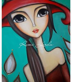 What do you think the look of this woman says? Fabric Painting, Painting & Drawing, Frida Art, Salon Art, Simple Acrylic Paintings, Arte Pop, Art Drawings Sketches, Whimsical Art, Face Art