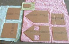 Детское творчество. Домик из картона и ткани