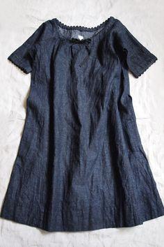 Dosa Indigo Dress 55% Hemp, 45% Organic Cotton / available in: Indigo