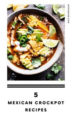 The best slow-cooker Mexican food recipes.