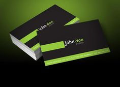 Today we are presenting simple and clean free personal business card template, designed on dark background with stylish green color. Note: This business card design is under Creative Commons Attribution. To modify for personal or commercial use, you will need vector application such Adobe Illustrator.