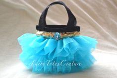 JASMINE INSPIRED TUTU TOTE - Mini Size, Jasmine Party Favor, Princess Tutu Tote