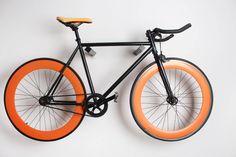 Dublin wooden bike rack / wooden bike hanger / | Etsy Bike Hanger, Bike Rack, Wall Hanger, Hangers, Dublin, Bicycle, Etsy, Bike Shelf, Dark Hardwood