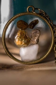 """Items similar to Stone resin pieces with antique bronze cable chain lobster clasp 62 cm """""""") long, pendant, necklace on Etsy Book Lamp, Snow Globes, Resin, Candle Holders, Cable, Bronze, Antiques, Unique Jewelry, Handmade Gifts"""