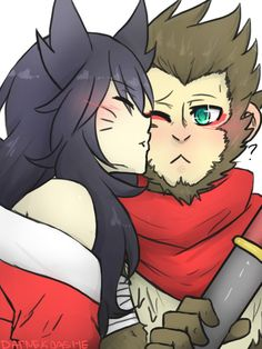 Commission-Ahri and Wukong by DatNekoAshe on DeviantArt