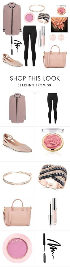"""""""rose"""" by mayamaya269 ❤ liked on Polyvore featuring Steffen Schraut, The Row, Franco Sarto, Anne Klein, Effy Jewelry, By Terry, Lancôme, Bobbi Brown Cosmetics and Henri Bendel"""