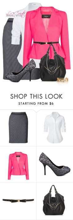 """""""Office Chic"""" by lv2create ❤ liked on Polyvore featuring Akris Punto, Steffen Schraut, MANGO, GUESS and Forever 21"""