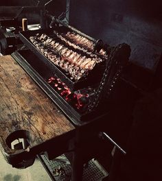 Home-made BBQ with bicycle chain crank?