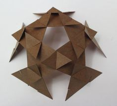 intersecting planes sculpture. quarky science | modular polyhedra sculpture intersecting planes r