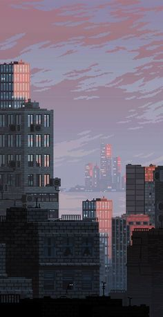 Pixel Cities Gif Pictures Prints And City - City skylines turned into geometric metropolises by scott uminga