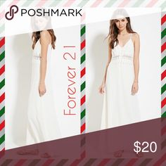 🎄 Xmas sale - Forever 21 crochet maxi NWT FIRM Never worn and tags still attached. Beautiful maxi with a crochet detail below the breast Forever 21 Dresses Maxi