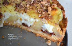 Τάρτα μήλου με κρέμα βανίλιας - cretangastronomy.gr Lasagna, Cookie Recipes, Banana Bread, French Toast, Deserts, Sweet Home, Sweets, Cookies, Breakfast