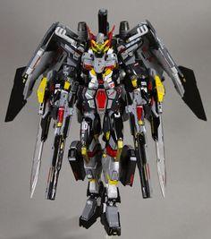GUNDAM GUY: HG 1/144 Gundam Astraea Arfogaeth + K9 Dogpack [Full Unit Heavy System] - Custom Build