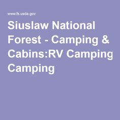 Siuslaw National Forest - Camping & Cabins:RV Camping
