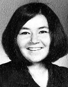 Young Roseane Barr before she was famous Yearbook picture