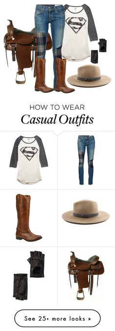 """""""Casual riding outfit."""" by winscotthk on Polyvore featuring Forever 21, rag & bone/JEAN, Frye, rag & bone and Portolano"""