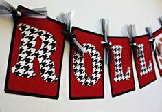 Roll Tide Alabama Football Banner by ElleJayPartyDecor on Etsy, $18.00