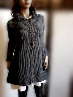 Charcoal Grey Classical Jacket Coat  $198 from Pilland on etsy