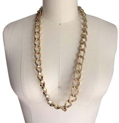 Oversized Chain Link. Free shipping and guaranteed authenticity on Oversized Chain LinkLong oversized gold tone link chain necklace. I bo...