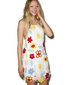 #DollsKill #Roller #Girl #lookbook #photoshoot #model #beach #bouquet #crochet #dress #floral #flowers