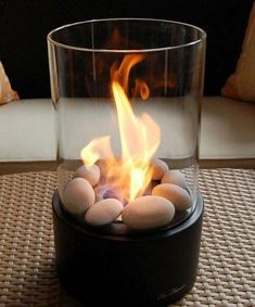Cheap And Easy Ideas: Easy Fire Pit Decor small fire pit porches. Tabletop Fireplaces, Ethanol Fireplace, Fireplace Glass, Small Fireplace, Outdoor Fireplaces, Modern Fireplace, Easy Fire Pit, Small Fire Pit, Fire Pit Furniture