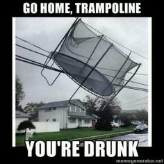 Funny trampoline images