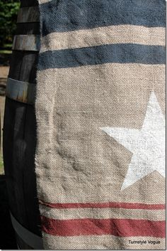 How To DIY Pottery Barn's 4th Of July Burlap Flag :: Hometalk