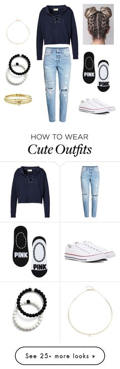 """Perfect outfit to wear if you want to be comfortable but cute at the same time"" by mackenzie-bacon on Polyvore featuring Ralph Lauren, H&M, Converse, Zoë Chicco, Lokai and Jennifer Meyer Jewelry"