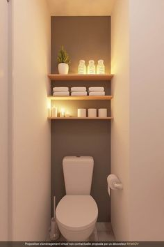 Small Downstairs Toilet, Small Toilet Room, Downstairs Bathroom, Small Toilet Decor, Master Bathroom, White Bathroom, Bathroom Wall, Bathroom Storage, Bathroom Design Small