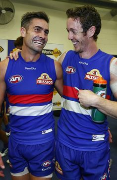 Daniel Giansiracusa & Robert Murphy celebrate their win against Richmond 5/04/2014