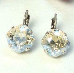 Swarovski Crystal Earrings   Designer Inspired   by CathieNilson