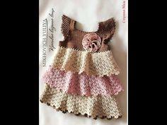 moda bebê em crochê - vestidinhos