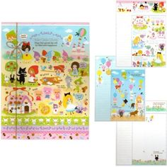Kamio Fairy Tale World Triple Letter Set with Satin Seal Stickers