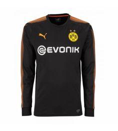 Puma Borussia Dortmund Home Goalkeeper Shirt Black (Kids) Football Kits, Football Soccer, Black Kids, Black Men, Goalkeeper Kits, Soccer Shop, Small Boy, Manchester United, Boys
