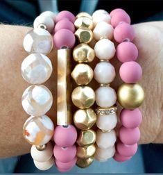 Gemstone Bracelet Set of Boho Jewelry, Chunky Elastic Bracelet, Gold Bead Bra. Jewelry Model, Boho Jewelry, Jewelry Gifts, Beaded Jewelry, Handmade Jewelry, Jewelry Designer, Jewelry Ideas, Fashion Jewelry, Gemstone Bracelets