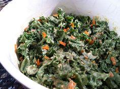 Kale Avocado Chia Salad from Kris Carr