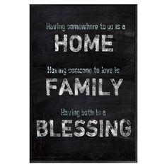 Home Family Blessing Framed Print