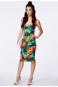 6b552068a97a Augustyna Tropical Print Midi Dress