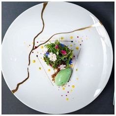Chef Xavier Boyer of the L'Atelier de Joel Robuchon (london) delivers this beautiful dish. The dish reflects the philosophy of chef Robuchon's new book Food & Life, in which he explores healthy Michelin star food. Beetroot with mustard sorbet. As featured on FOUR Magazine