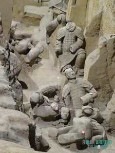 Die Terrakotta Armee vom Kaiser Qín Shǐhuángdì in Halle 2 – Terracotta Warriors of the first emperor Qín Shǐhuángdì in Pit 2 in Xi'an, China