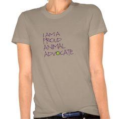 Proud Animal Advocate Shirt designed by @Langley_Designs #vegan