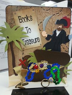 Talk Like a Pirate Day (weeklong mini display) Library Themes, Library Displays, Library Books, Book Displays, School Decorations, School Themes, Classroom Themes, Pirate Decor, Pirate Theme