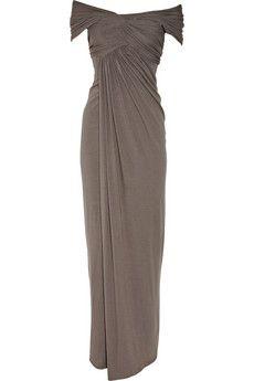 Donna Karan Off-the-shoulder jersey gown