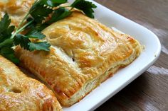 Thanksgiving leftover solution: Turkey, Mushroom and Bacon Puff Pastry Pockets Would probably be good with other fillings too (cranberry or maybe mashed sweet potatoes... mmm).